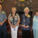 20 years of Volunteering (R to L): Bernard Richardson (10years), Hazel Black, Dolores Leonard, Eva Hoff. Shirley Anderson, Anne Reed, Marge Terneus, Nathan Bruce, Virginia Nitz