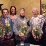 On April 13, 2016, Beloit City Manager Lori Curtis-Luther recognized our group of ladies with a luncheon, flowers & letter of recognition for all of their hard work.  The ladies donate their time working at the information desk for city hall.  If you are ever there stop by and say hello!  Pictured left to right: Carolyn Evans, Doris Forbes, Lori Curtis-Luther, Rosemarie Amman,  Betty Gasser & Jane Sholes