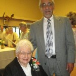 Robert Harlow with Kathryn Gove who was recognized for her 35 yrs of volunteering.