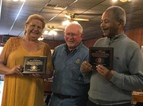 Jan Olmstead and Don Wilson were recently recognized by the Janesville Golden Kiwanis for their outstanding volunteer services in the community.