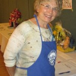Judy Robson checking out the Silent Auction.