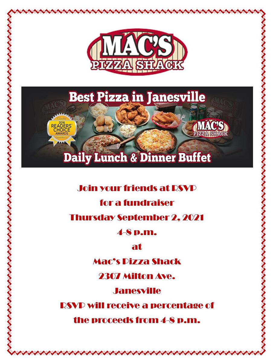 Macs pizza fundraiser